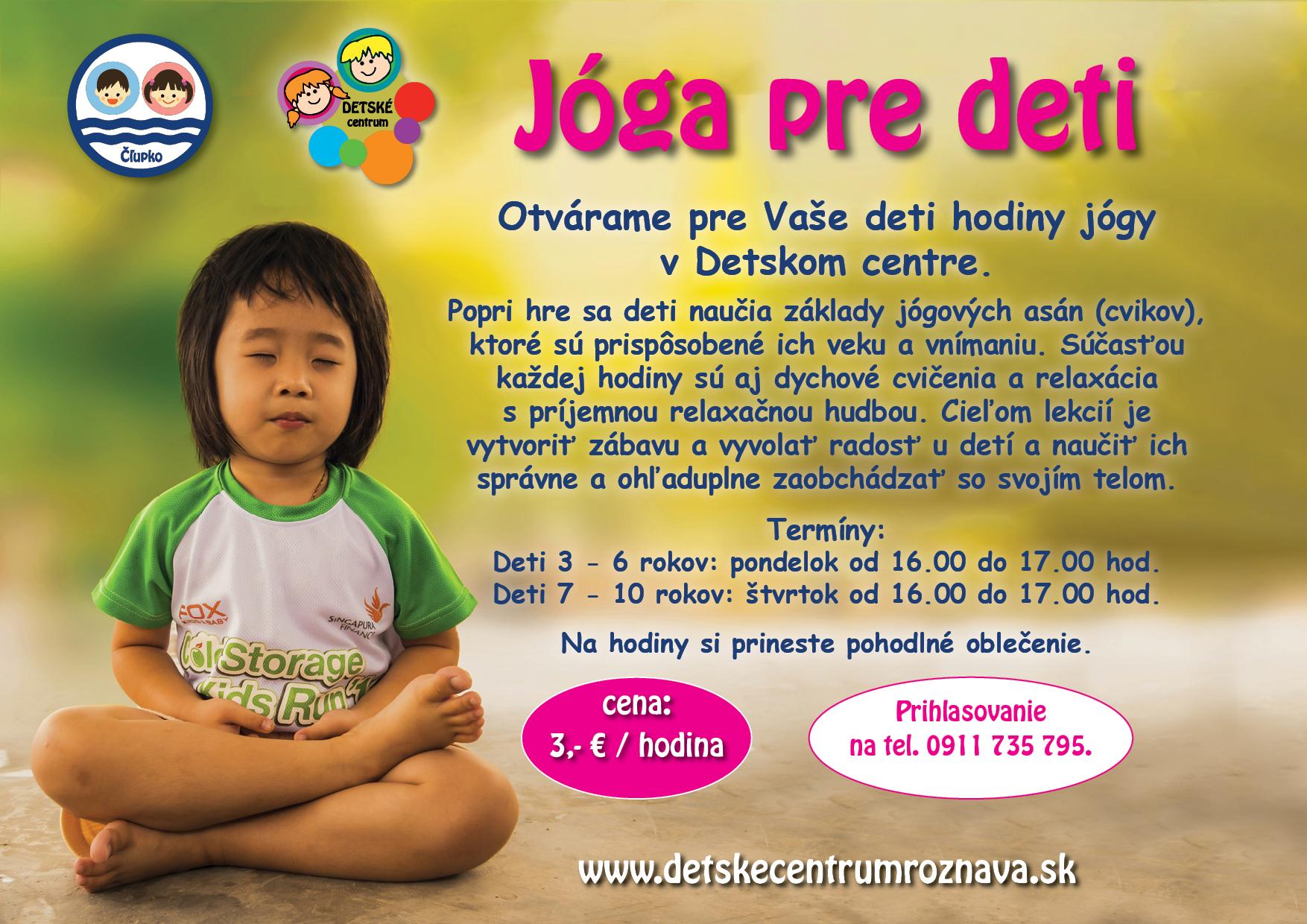 Jóga pre deti v Detskom centre