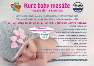 Kurzy baby masáže – masáže detí a kojencov