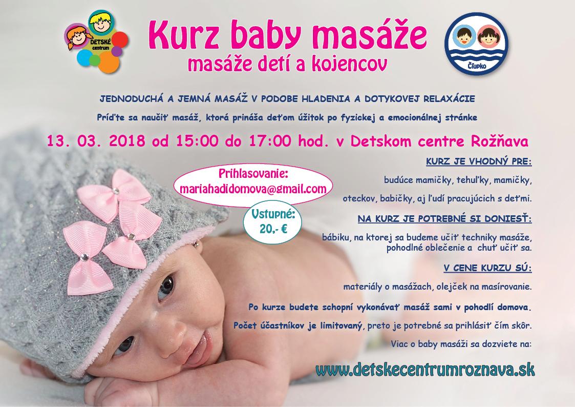 Kurz baby masáže v Detskom centre