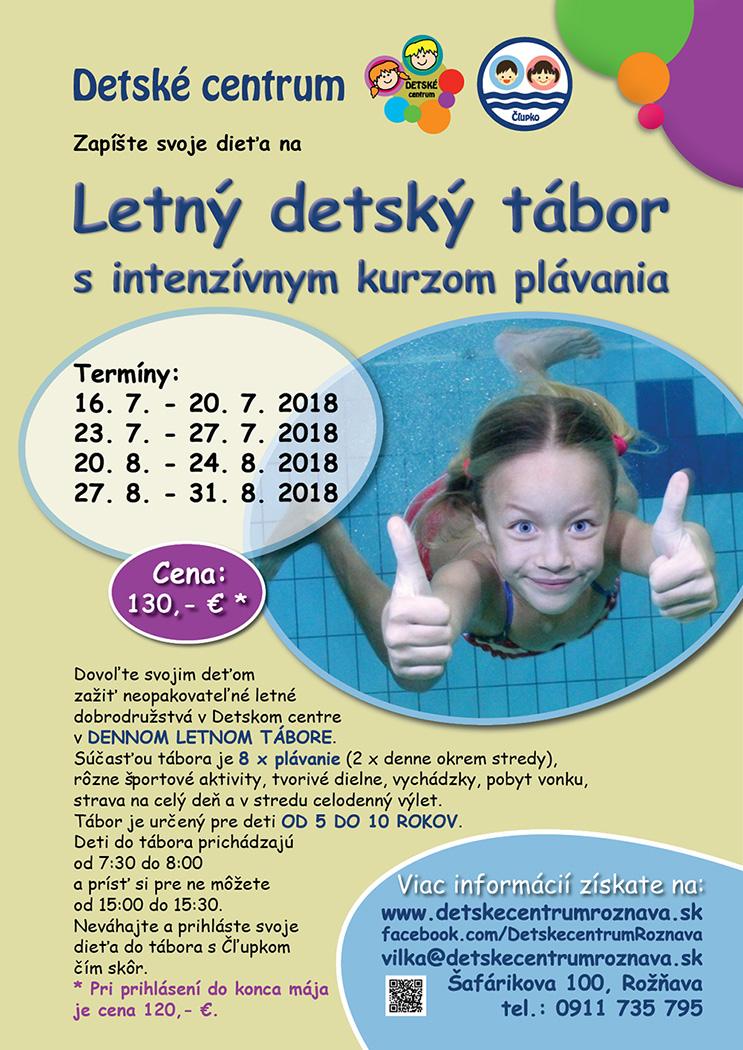 Letný detský tábor s intenzívnym kurzom plávania