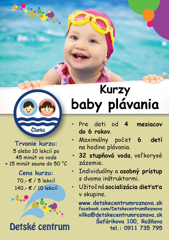 Kurzy plávania v Detskom centre Rožňava